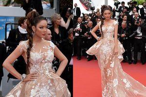 Trước lời mỉa mai bị 'ngó lơ' trên thảm đỏ Cannes, Lý Nhã Kỳ diện váy xuyên thấu đáp trả