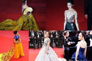 Sao Hoa ngữ câu giờ, làm lố trên thảm đỏ Cannes 2018