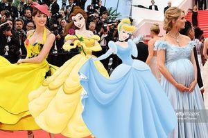Khi 'Người đẹp và quái vật' Belle đối đầu Lọ Lem 'mang bầu' giữa LHP Cannes 2018