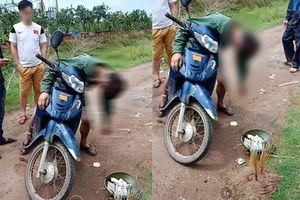 Hưng Yên: Phát hiện người đàn ông chết trong tư thế gục trên xe máy