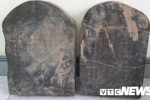Phát hiện 2 bia đá liên quan mộ chí Trạng Trình Nguyễn Bỉnh Khiêm
