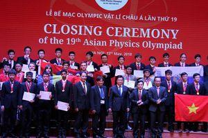 Việt Nam giành 4 Huy chương Vàng tại Olympic Vật lí Châu Á lần thứ 19