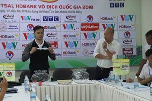 Bốc thăm xếp lịch thi đấu Giải Futsal vô địch quốc gia