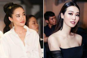 Nhã Phương chạm mặt Khánh My trong show thời trang của Phạm Hương