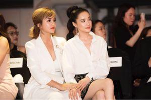Nhã Phương đụng độ Khánh My tại show thời trang của Phạm Hương