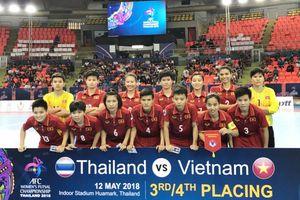 Giải Futsal nữ châu Á 2018: Việt Nam xếp hạng Tư chung cuộc