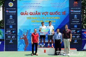 Lý Hoàng Nam, Nguyễn Văn Phương giành vô địch đôi nam Vietnam F2 Futures – Vietravel cup 2018