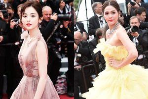 Mỹ nữ Tân Cương đọ sắc 'thiên thần' Thái Lan trên thảm đỏ Cannes 2018