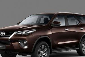 Cập nhật bảng giá xe Toyota tháng 5/2018