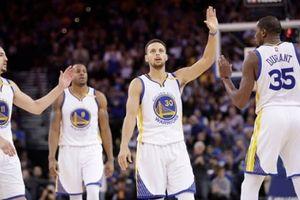 Tam tấu Durant - Thompson - Curry chơi bùng nổ, Warriors diệt gọn Rockets