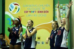 Giải bóng chuyền nữ quốc tế VTV9 Bình Điền 2018: Ấn tượng những cô gái Mỹ