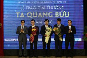Giải thưởng Tạ Quang Bửu 2018 vinh danh các nhà khoa học trẻ