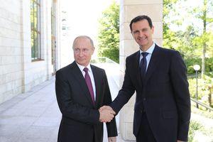 Hình ảnh Tổng thống Assad tự tin gặp người đồng cấp Vladimir Putin