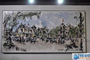Triển lãm tranh kỷ niệm 45 năm quan hệ ngoại giao Việt Nam - Singapore