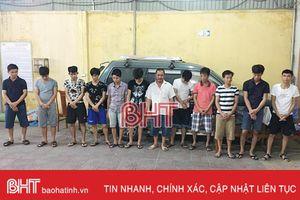 Khởi tố 19 bị can đánh bạc và tổ chức đánh bạc ở Hồng Lĩnh