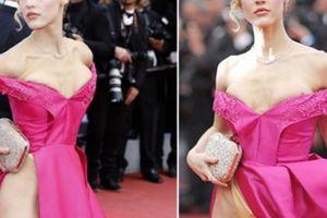 Lộ ngực, hớ hênh lộ nội y- những pha muối mặt của sao nữ ở Cannes
