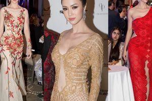 Vũ Ngọc Anh thay 3 bộ váy của NTK Patrick Phạm trong 1 sự kiện ở LHP Cannes