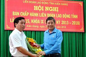 Ông Trần Thanh Việt được chỉ định làm Chủ tịch LĐLĐ tỉnh Kiên Giang nhiệm kỳ 2013-2018