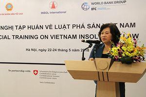 Hội nghị tập huấn về Luật Phá sản Việt Nam dành cho các Thẩm phán