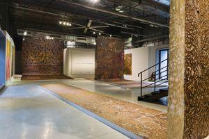 Những bức tranh dài hàng chục mét tại triển lãm của Phạm Trần Việt Nam