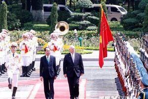 Hình ảnh lễ đón chính thức Toàn quyền Australia Peter Cosgrove
