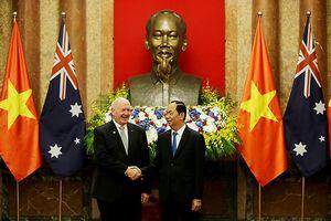 Chủ tịch nước Trần Đại Quang tiếp đón Toàn quyền Australia Peter Cosgrove