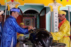 Cá 'Ông' hơn 300 kg dạt vào bờ biển Quảng Ngãi