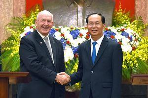 Hình ảnh lễ đón trọng thể Toàn quyền Australia thăm chính thức Việt Nam