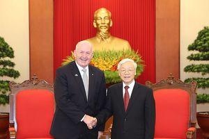 Tổng Bí thư Nguyễn Phú Trọng tiếp toàn quyền Úc