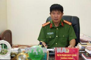 Thủ lĩnh lực lượng cảnh sát phòng chống tội phạm ma túy ở Điện Biên