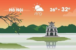 Thời tiết ngày 27/5: Hà Nội giảm 5 độ C, trời chuyển mưa lớn