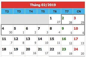 Nhiều bộ ngành ủng hộ phương án nghỉ 9 ngày Tết Nguyên đán 2019