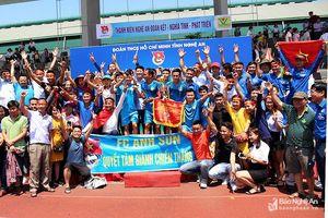 FC Anh Sơn: Hành trình đến ngôi Vô địch Giải bóng đá Thanh niên Nghệ An tại Hà Nội