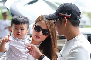 Vợ chồng Ngọc Lan – Thanh Bình đưa con trai sang Hàn Quốc ghi hình