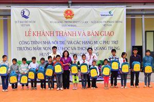 Vietcombank tài trợ 5 tỷ đồng xây dựng nhà nội trú tại tỉnh Cao Bằng