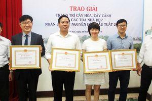 Hà Nội trao giải cho nhiều doanh nghiệp, đơn vị trang trí cây hoa, cây cảnh, tòa nhà đẹp