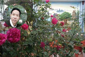Khuôn viên tầng 2 tràn ngập sắc hoa hồng của ông bố hai con ở Thái Bình