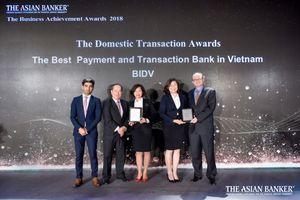 BIDV nhận liên tiếp 2 giải thưởng từ The Asian Banker
