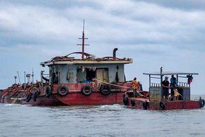 Dân vây bắt tại trận tàu hút trộm cát bãi ngao