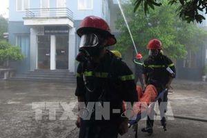 Ngành điện Hải Dương diễn tập phòng cháy, chữa cháy và cứu nạn cứu hộ