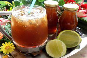 Tự nấu trà bí đao hạt chia giải nhiệt ngày Hè