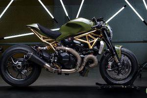Ducati Monster 1200 R bản độ 'phủ vàng': Tiện cận sự hoàn hảo