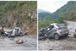 Dừng xe bên đường, tài xế bị tảng đá lớn đè tử vong trên ghế lái