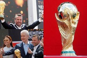 Cận cảnh cúp vàng của World Cup 2018 khiến 32 đội bóng 'ngả nghiêng'