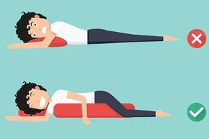 Ai bị đau lưng, cổ, vai, chân, hãy áp dụng tư thế ngủ dưới đây