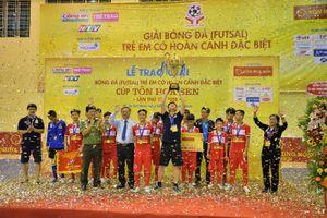 Hà Nội vô địch Giải futsal trẻ em có hoàn cảnh đặc biệt khó khăn 2018