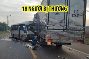 Tai nạn kinh hoàng, toàn bộ 18 người trên xe khách bị thương