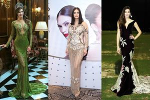 5 Hoa hậu Hoàn vũ thế giới 'phải lòng' với các thiết kế 'Made in Việt Nam'