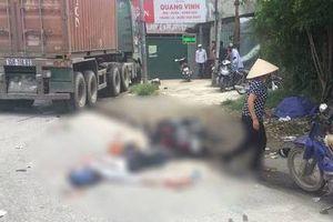 Điều khiển xe máy ngã ra đường, nam thanh niên bị xe container cán tử vong