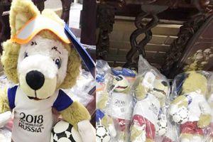 'Hốt bạc' nhờ kinh doanh sói bông Zabivaka - linh vật World Cup 2018